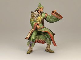 Dynasty Warrior Guan Yu 3d preview