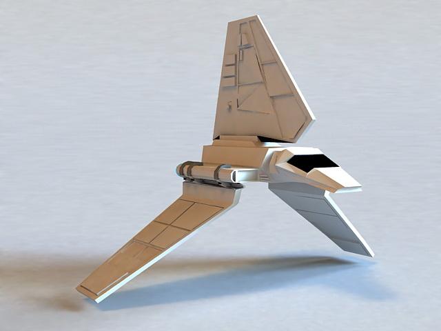 Star Wars Imperial Shuttle 3d rendering