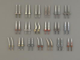 Two-Handed Swords 3d model preview