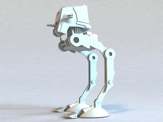 Future War Robot 3d rendering