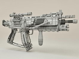 Sci-Fi Sniper Rifle 3d preview
