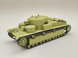 T-28 Russian Tank 3d model preview