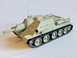 Russian SU-122 Tank Destroyer 3d preview