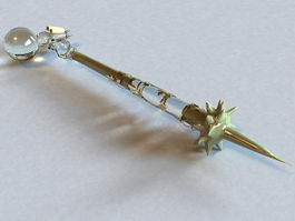Fantasy Crystal Mace 3d preview