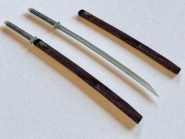 Japanese Swords 3d model preview