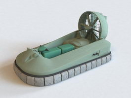 Military Hovercraft 3d preview