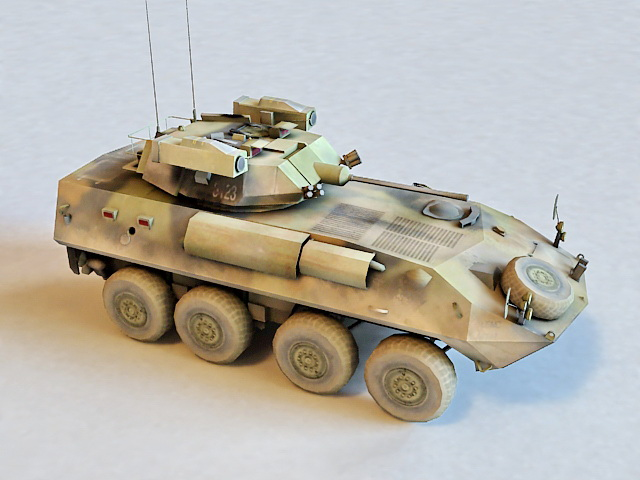 Army Armored Fighting Vehicle 3d rendering