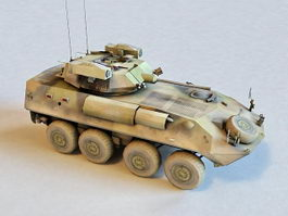Army Armored Fighting Vehicle 3d model preview
