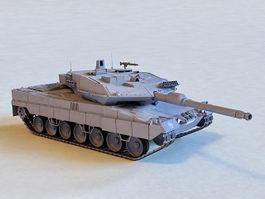 German Leopard 2 Tank 3d model preview