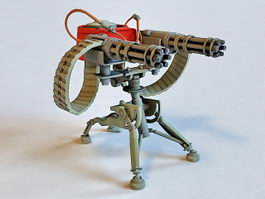 Military Sentry Gun 3d preview