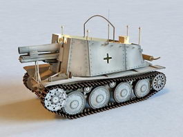 German Grille Artillery 3d model preview