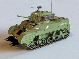M5A1 Light Tank 3d model preview