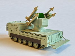 M730A1 Chaparral Missile System 3d preview