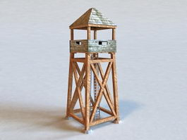 Military Guard Tower 3d preview