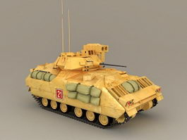 Bradley Infantry Fighting Vehicle 3d model preview