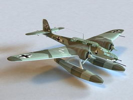 He 115 C-1 Torpedo Bomber Seaplane 3d preview