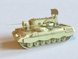 Flakpanzer Gepard Anti-Aircraft Tank 3d model preview