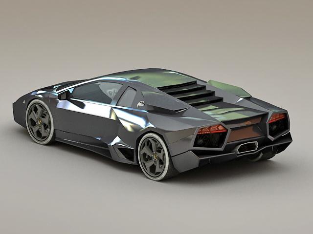 Lamborghini Reventón 3d rendering