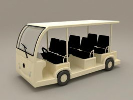 Electric Sightseeing Car 3d preview