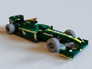 Lotus F1 Car 3d preview