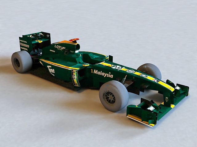 Lotus F1 Car 3d rendering