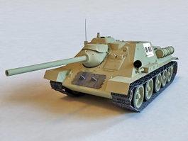 SU-85 Tank Destroyer 3d model preview