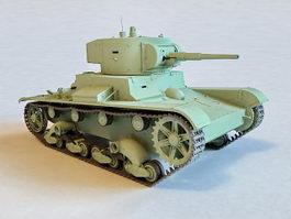 Soviet T26 Tank 3d model preview