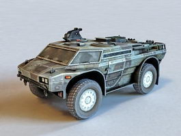 Armored Security Vehicle 3d preview