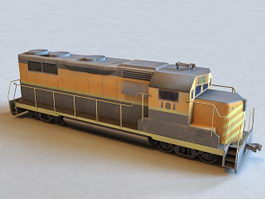 Train Engine Car 3d preview