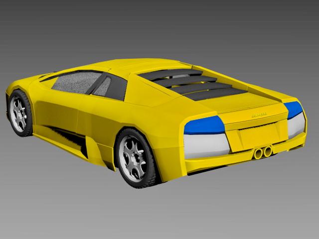 Lamborghini Murcielago Coupe 3d rendering