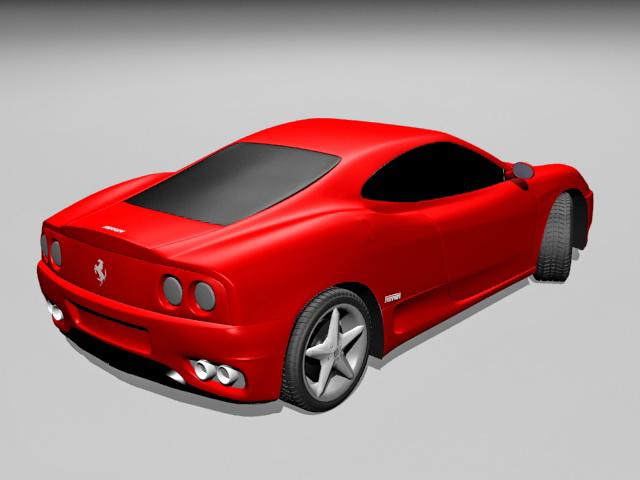 Ferrari 360 Sports Car 3d rendering