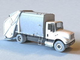 Trash Garbage Truck 3d preview
