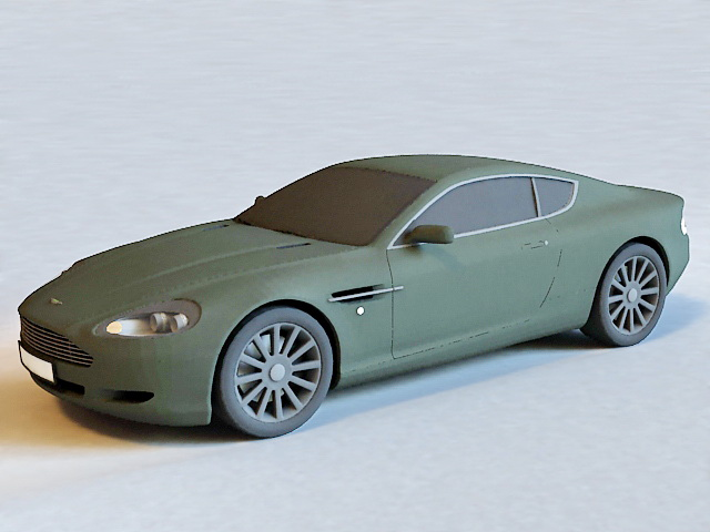 Aston Martin DB9 3d rendering