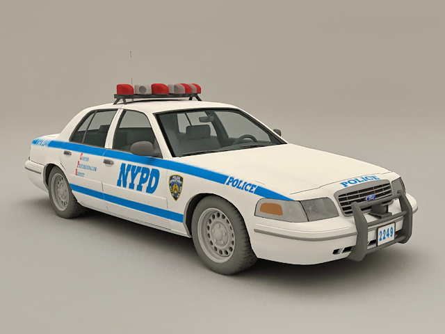 NYPD Police Car 3d rendering