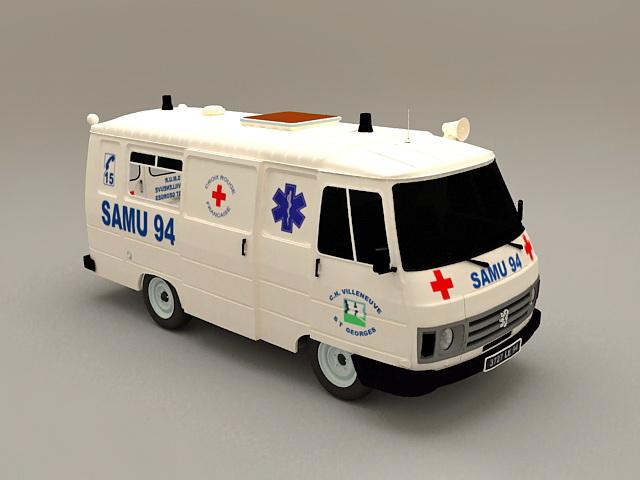 Ambulance Car 3d rendering