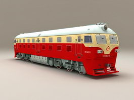 China Railway DF4D Locomotive 3d preview