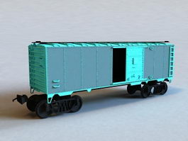 Cargo Train Car 3d preview