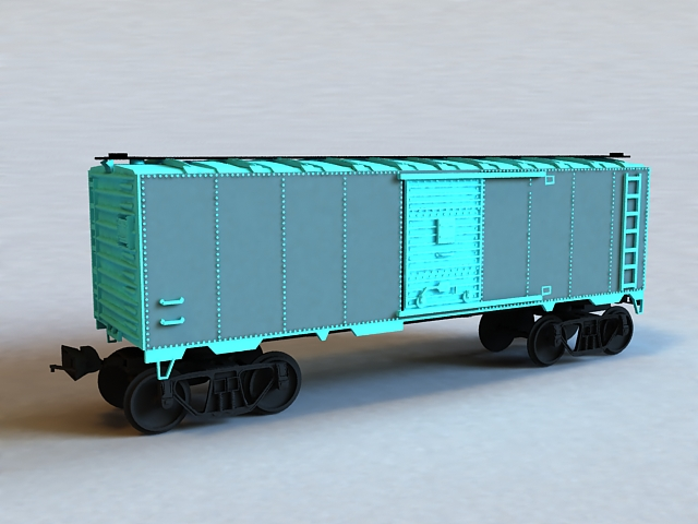 Cargo Train Car 3d rendering