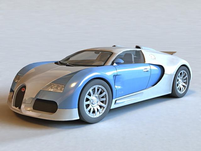 Bugatti Veyron 3d rendering