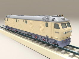 Locomotive Train and Rail 3d preview