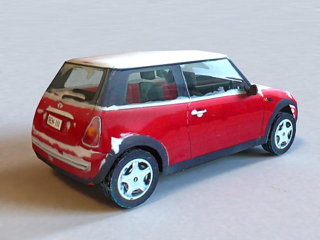 Snow Car 3d rendering