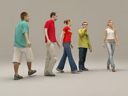 People Group Together 3d preview