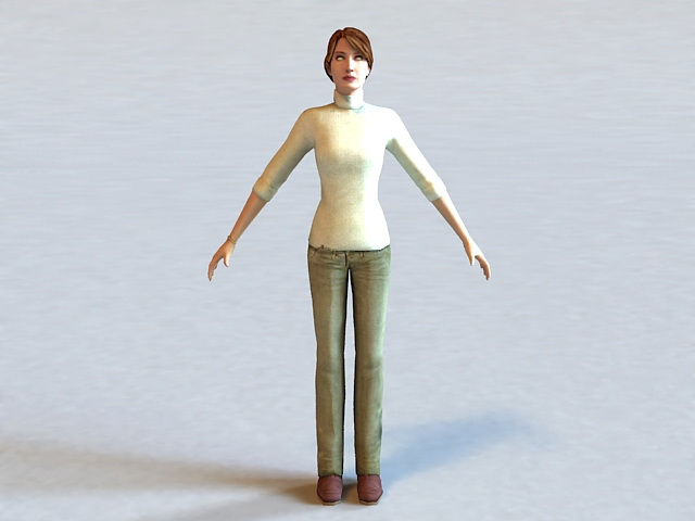 Judith Mossman Half-Life Character 3d rendering