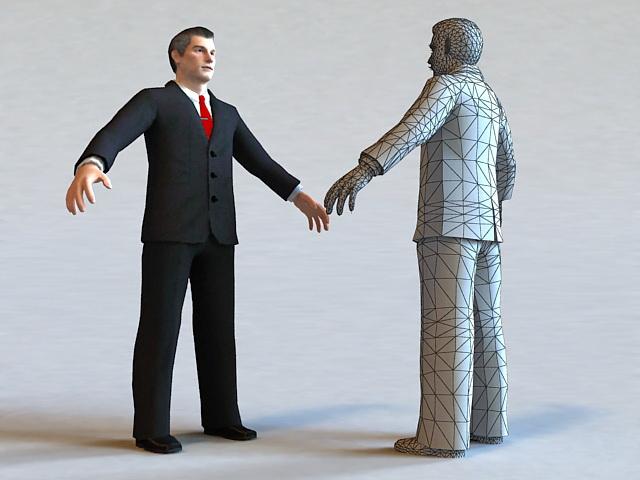 Executive Business Man 3d rendering