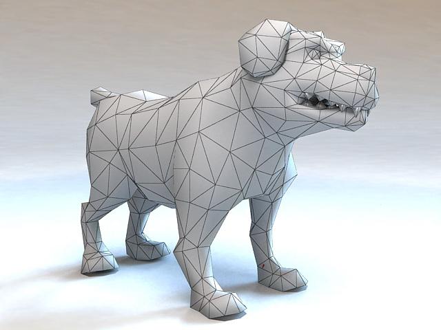 Rigged Cartoon Dog Animation 3d rendering