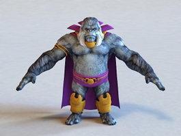 Gorilla Grodd 3d preview