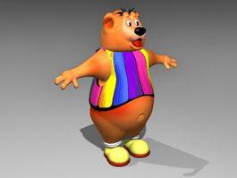 Brown Bear Cartoon 3d model preview