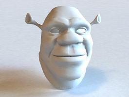 Shrek Head 3d model preview