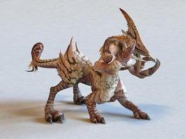 Fantasy Monster Beast Creature 3d model preview