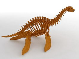 Wooden Toy Dinosaur 3d preview